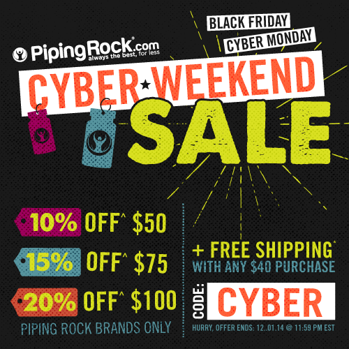 Piping Rock - Cyber Weekend Sale