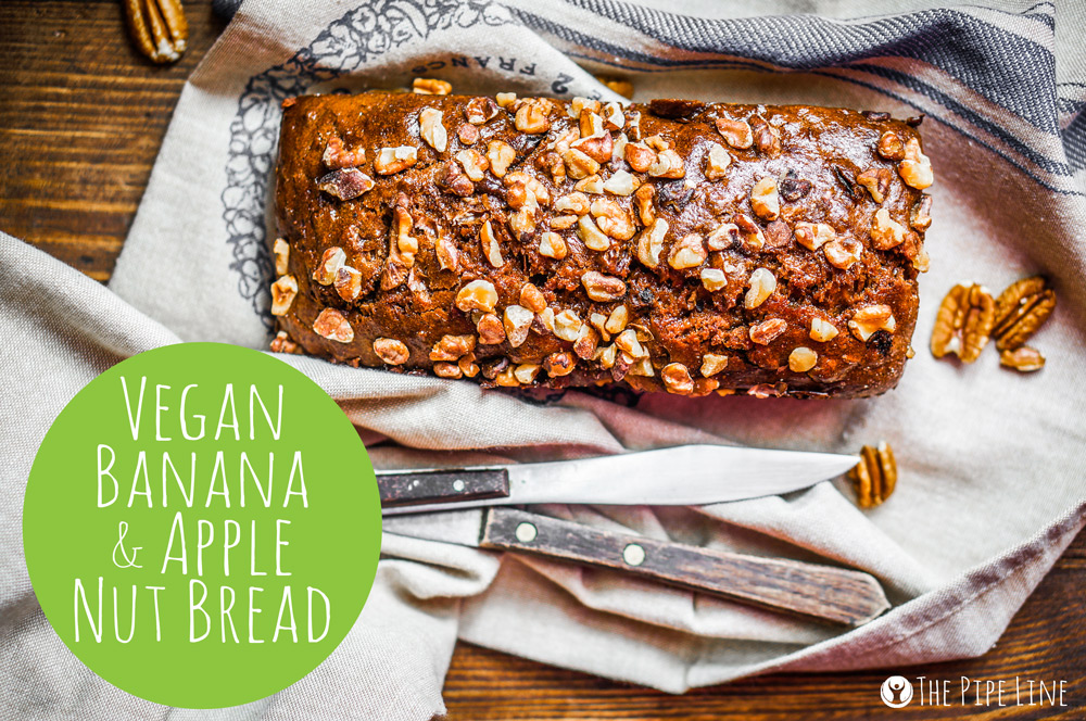 Piping Rock - The Pipe Line - Vegan Recipe - Banana Apple Nut Bread