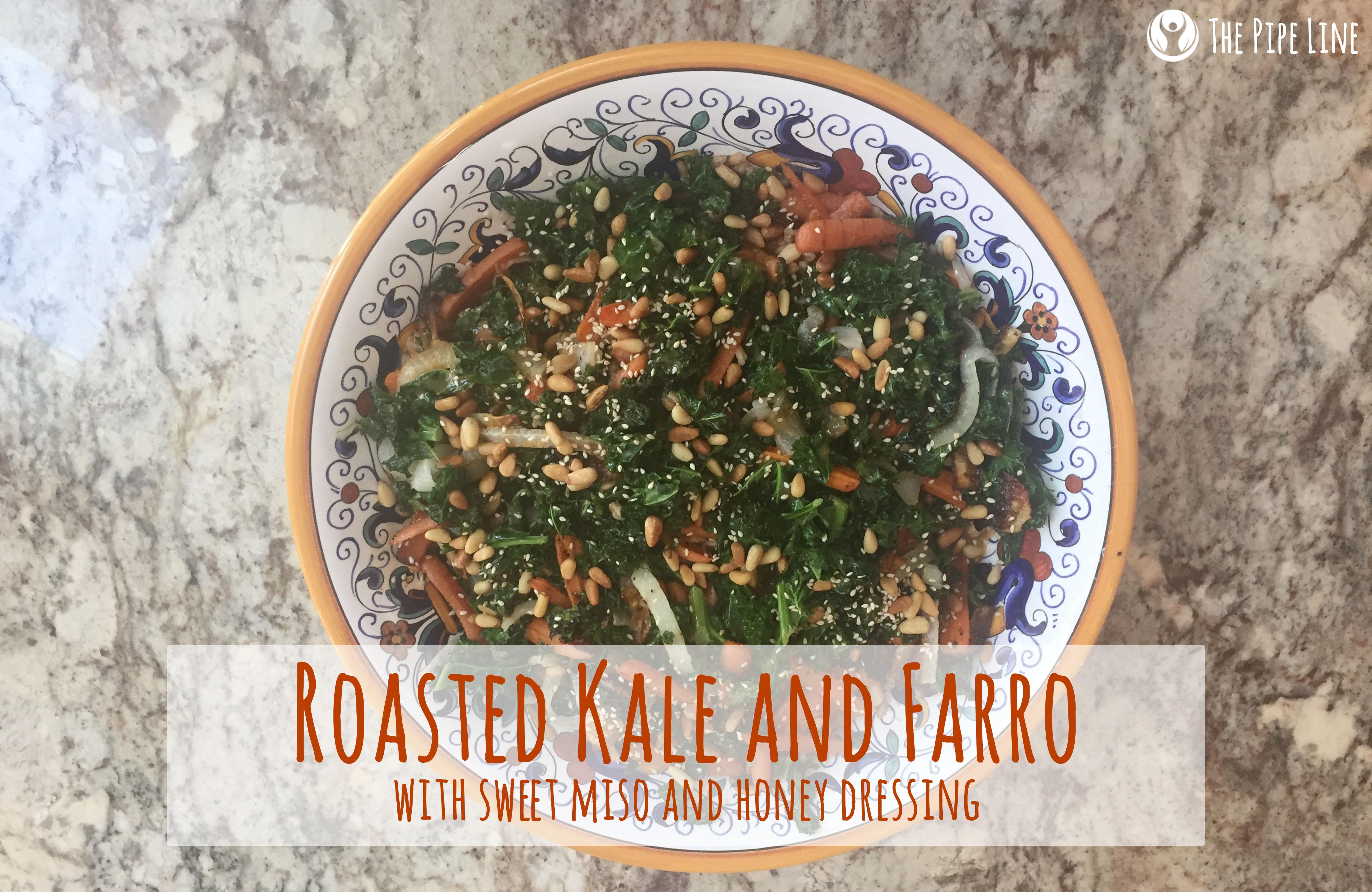 Roasted Kale and Farro