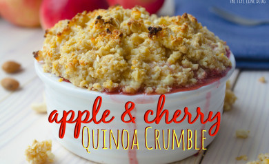 Piping Rock - The Pipe Line - Apple & Cherry Quinoa Crumble Recipe