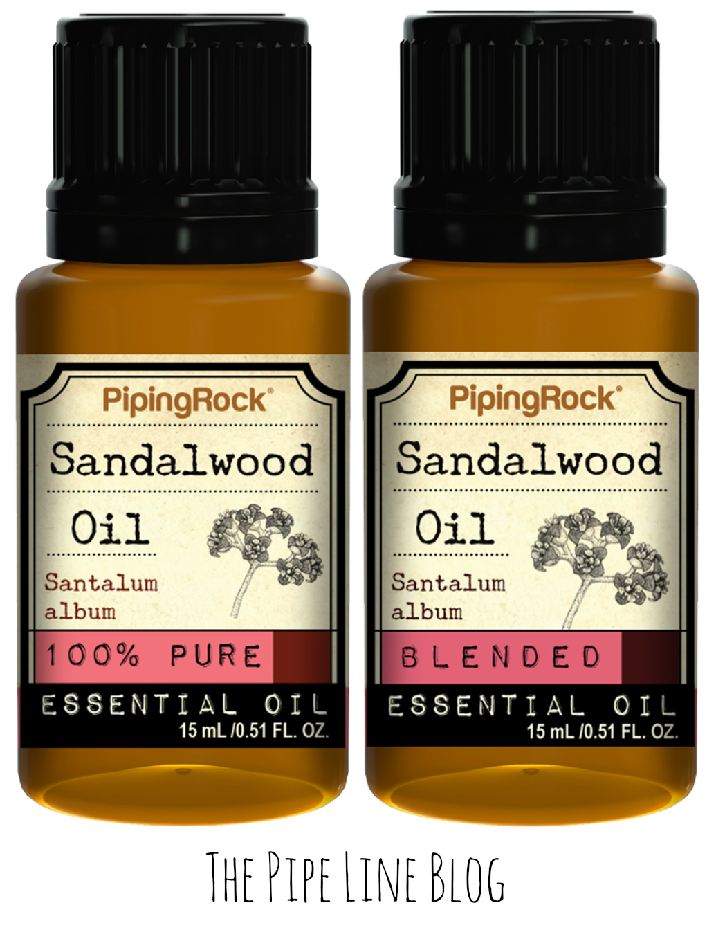 Piping Rock - The Pipe Line - 100% Pure & Blended Sandalwood Essential Oils