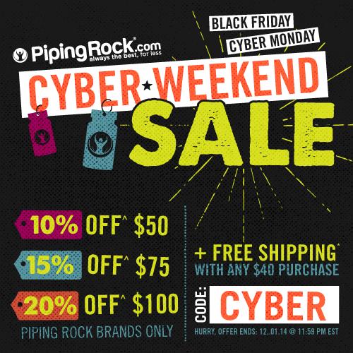 Piping Rock - Cyber Weekend Sale