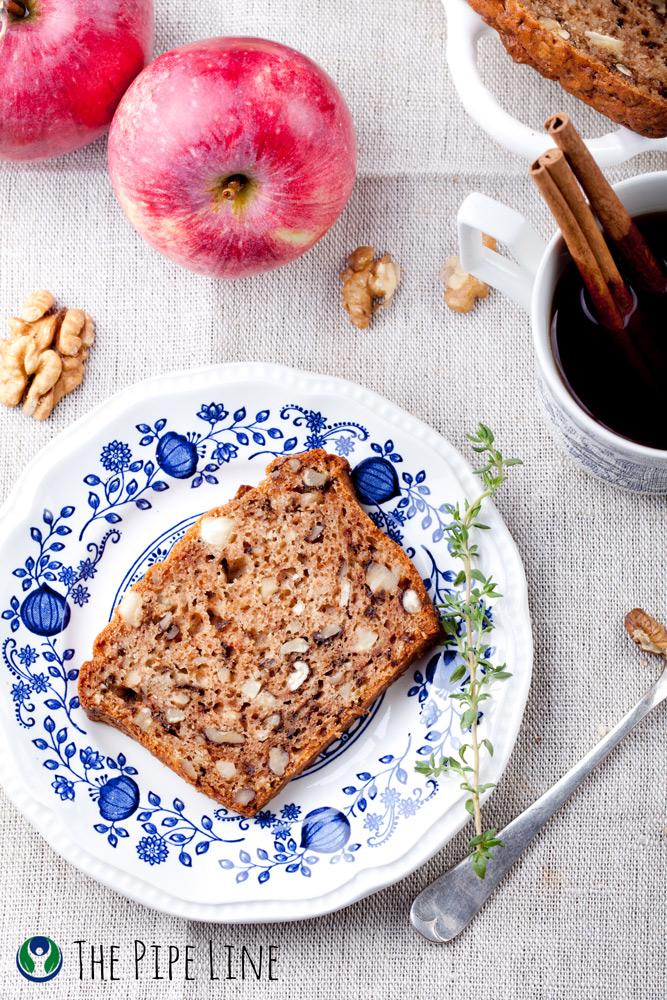 Piping Rock - The Pipe Line - Vegan Recipe - Banana Apple Nut Bread