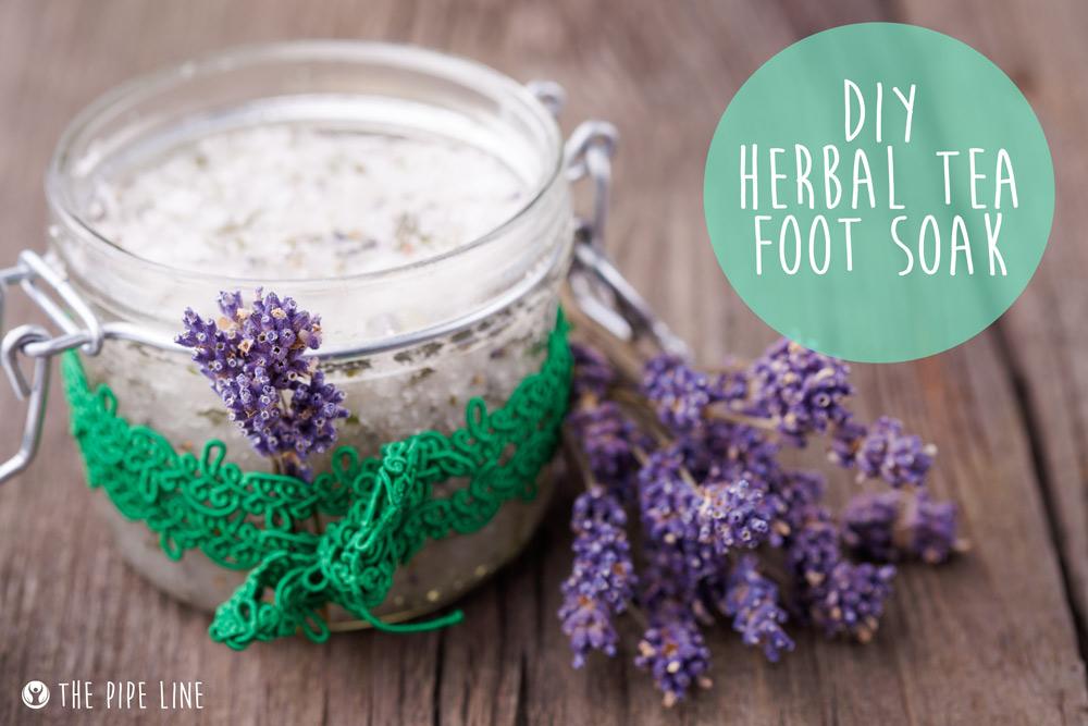 DIY HERBAL TEA FOOT SOAK...