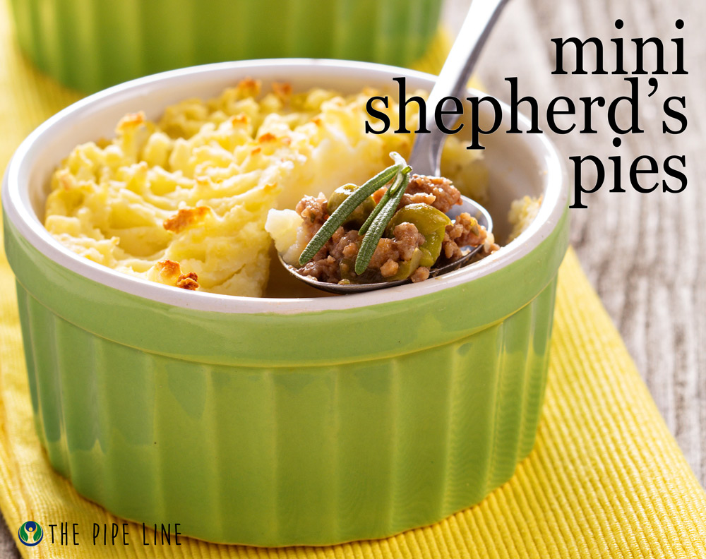 Piping Rock - The Pipe Line - St. Patricks Day Recipe - Mini Shepherd's Pies