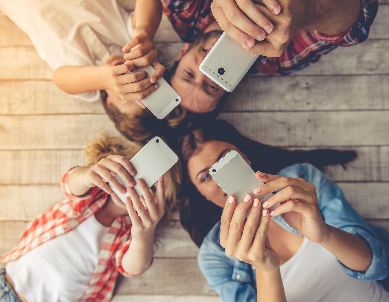 group of people phones--eye health