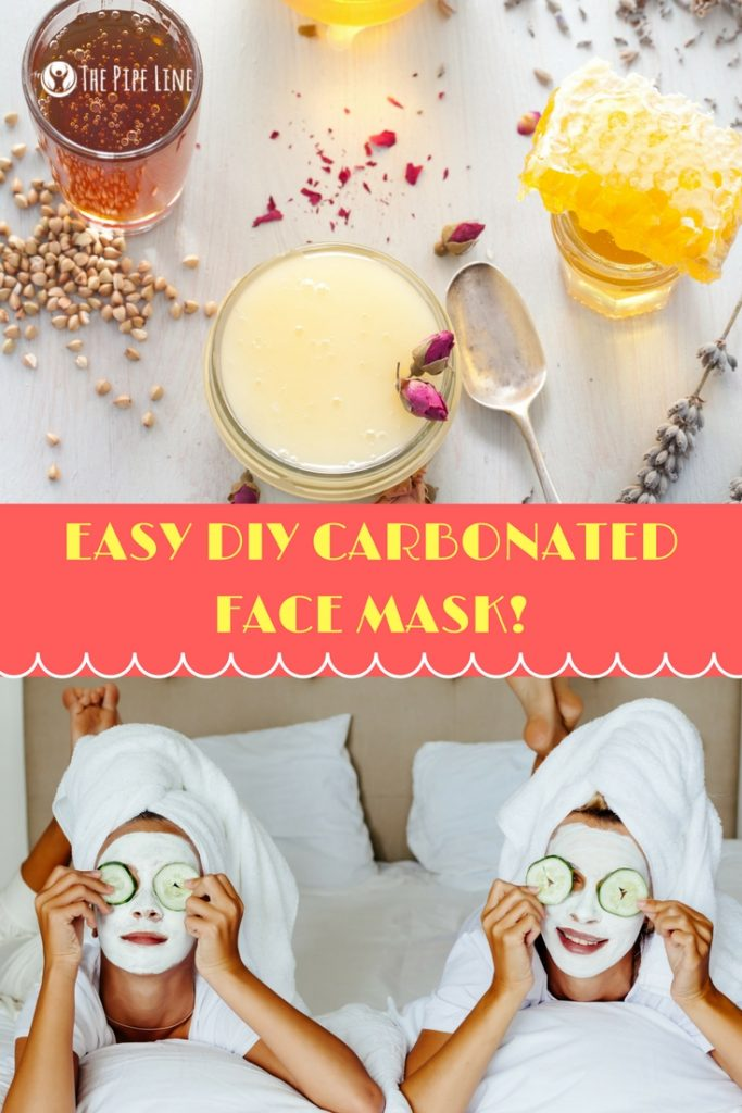 diy carbonated face mask
