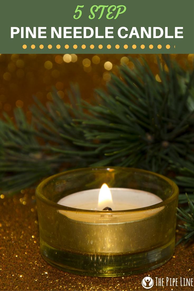 Handmade Pine Needle Candle