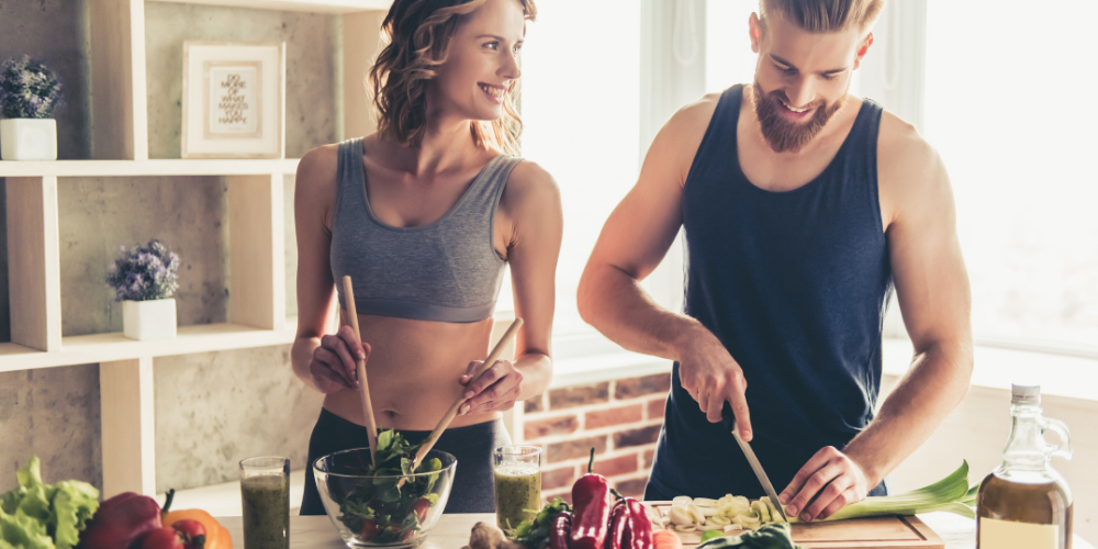 Couple Making Keto Approved Foods